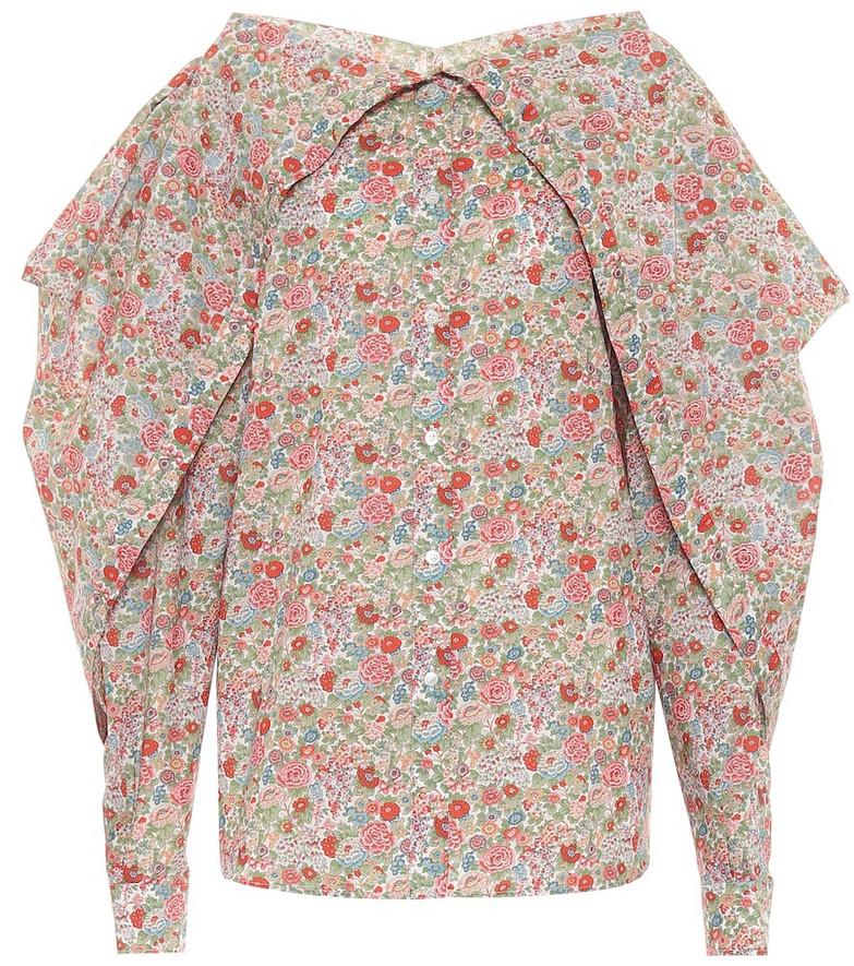 Y/PROJECT Floral cotton blouse