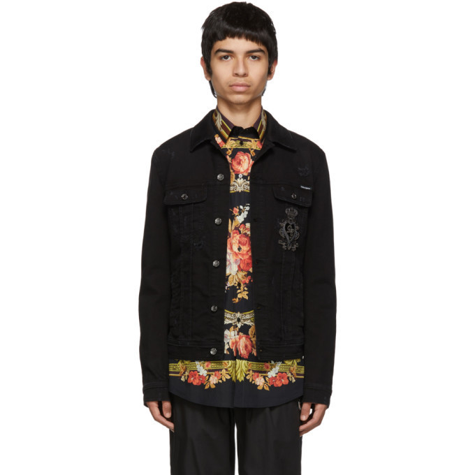 Dolce and Gabbana Dolce & Gabbana Black Denim Jacket