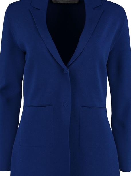D.Exterior Knitted Viscose Blazer in blue