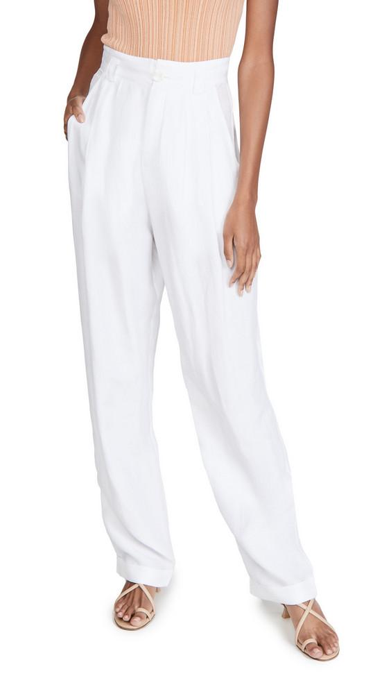 Ronny Kobo Ginevra Linen Pants in white