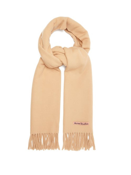 Acne Studios - Canada New Fringed Wool Scarf - Mens - Beige