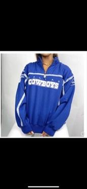 jacket,blue,dallas cowboys,cowboys,windbreaker,winter sweater,vintage,sportswear,winter sports,football jersey