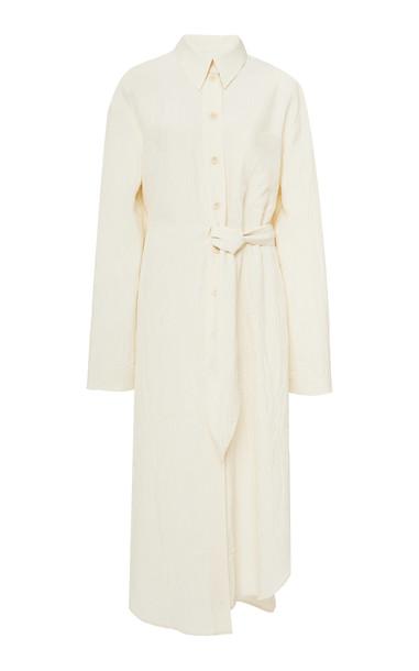 Nanushka Mona Belted Midi Dress Size: S in white