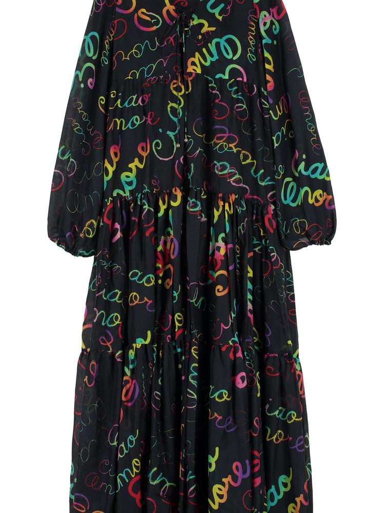 Giada Benincasa Printed Maxi Dress in black
