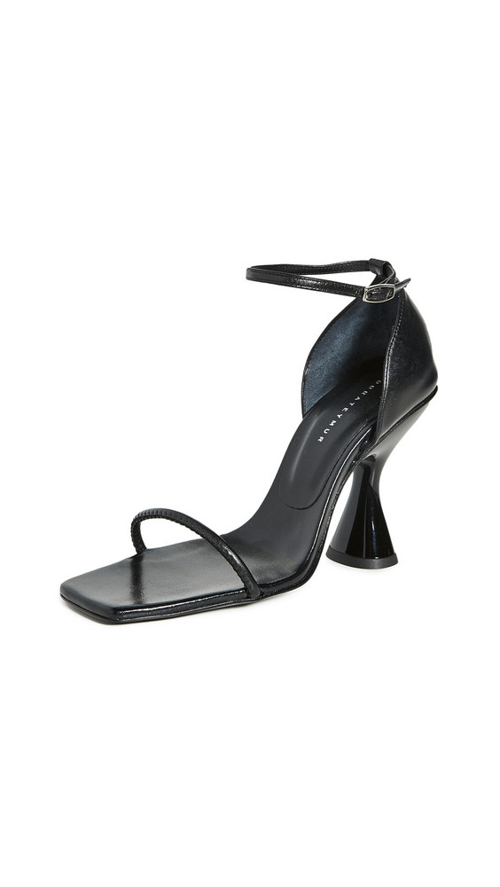 Dorateymur Stainless Ankle Strap Sandals in black