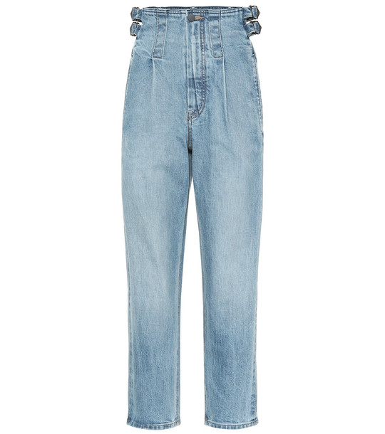 COLOVOS High-rise straight jeans in blue