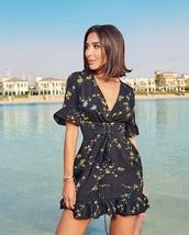 dress,black dress,floral,floral dress,summer dress