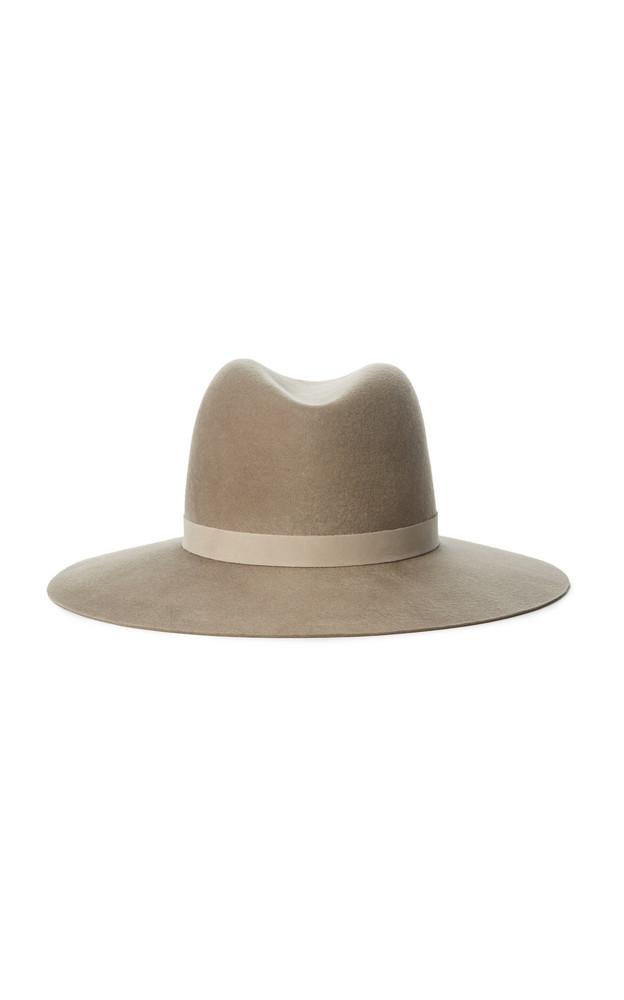 Janessa Leone Rylan Wool Fedora Hat in neutral