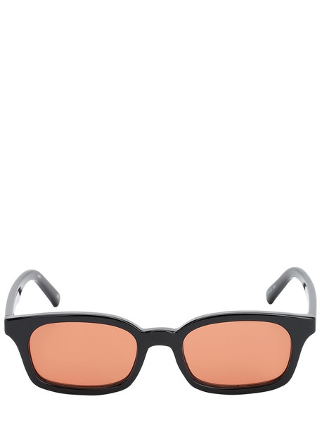 LE SPECS Carmito Squared Acetate Sunglasses in black / brown