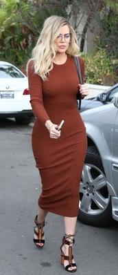 dress,jewel tones,khloe kardashian,rust,bodycon dress,sweater dress,sweater,fall colors,warm