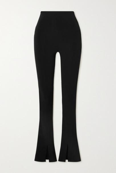 Norma Kamali - Spat Stretch-jersey Flared Leggings - Black