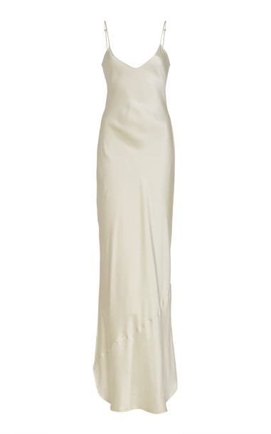 NILI LOTAN Cami Silk-Charmeuse Gown in white