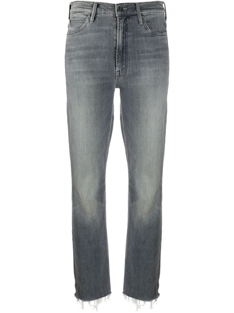 Mother Rascal slim-fit jeans in grey