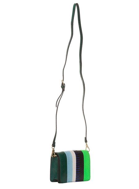 Essentiel Antwerp Multicolored Striped Snake Leather Belt Bag In Multicolor