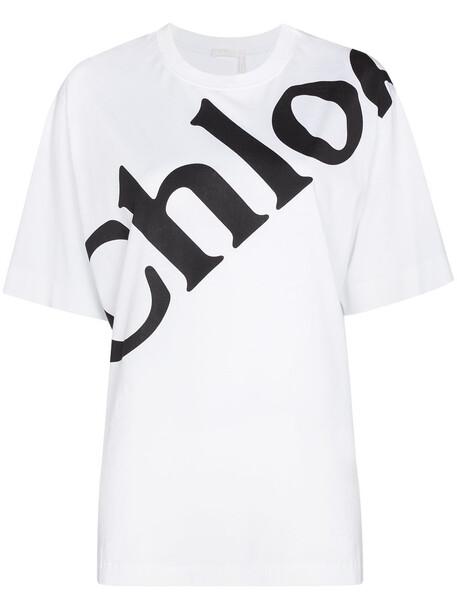 Chloé Chloé CHLOE CN SS LOGO TEE LGHT WHT - White