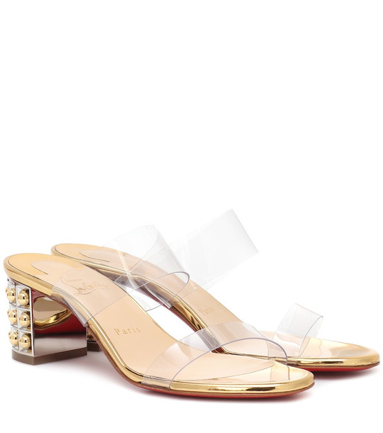 Christian Louboutin Almost Nothing 55 PVC sandals in gold