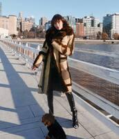 coat,long coat,black boots,black vinyl pants,winter outfits,ankle boots
