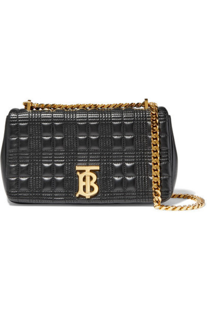 Burberry - Small Quilted Leather Shoulder Bag - Black