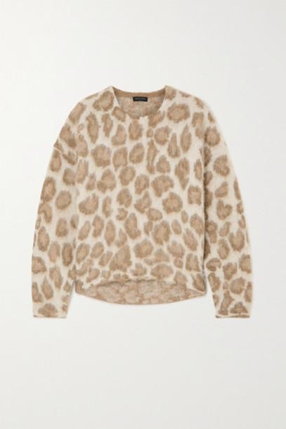 rag & bone - Printed Alpaca-blend Sweater - Leopard print