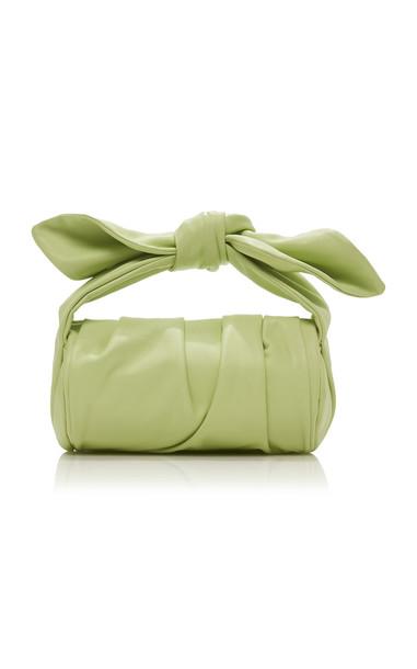 Rejina Pyo Nane Leather Bow-Embellished Top-Handle Bag in green