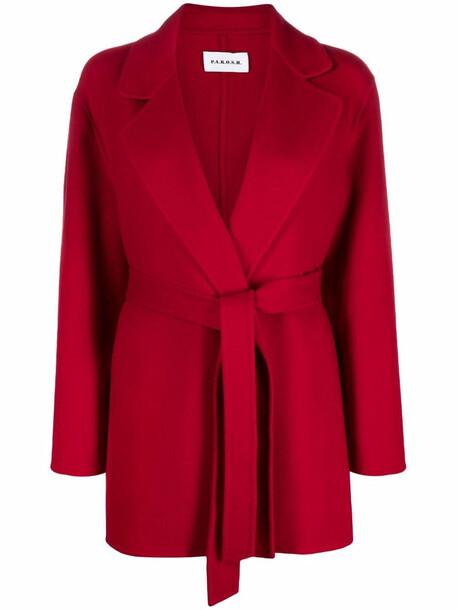 P.A.R.O.S.H. P.A.R.O.S.H. belted-waist wool coat - Red