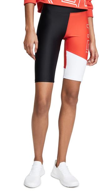 P.E NATION Benchwarmer Shorts in black / red / white