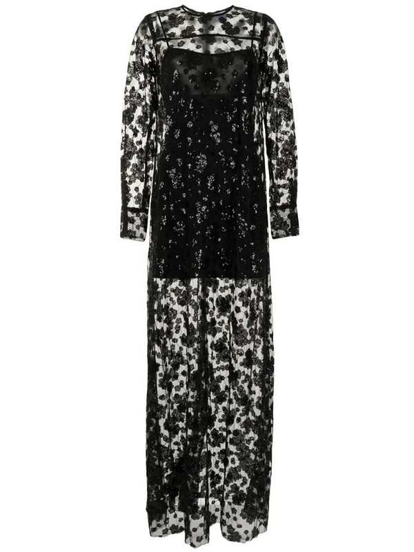 Macgraw Soiree sequin-embellished dress in black
