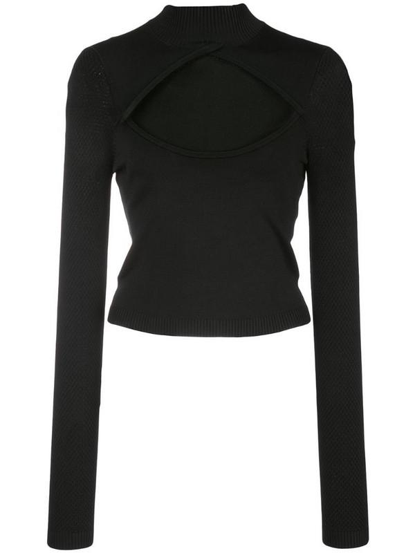 Fleur Du Mal cut-out knit top in black