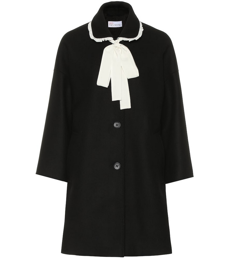 REDValentino Wool-blend coat in black