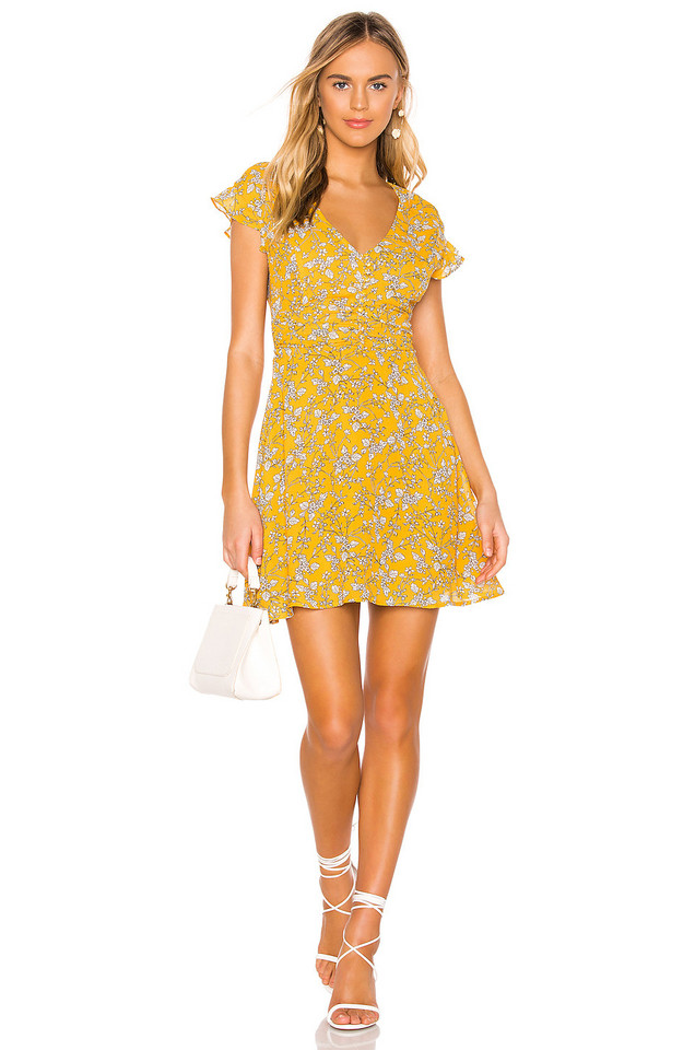 HEARTLOOM Callie Dress in yellow