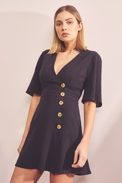 THE FIFTH MOVEMENT WRAP DRESS black