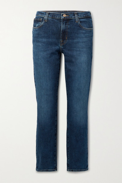 J Brand - Adele Mid-rise Straight-leg Jeans - Dark denim