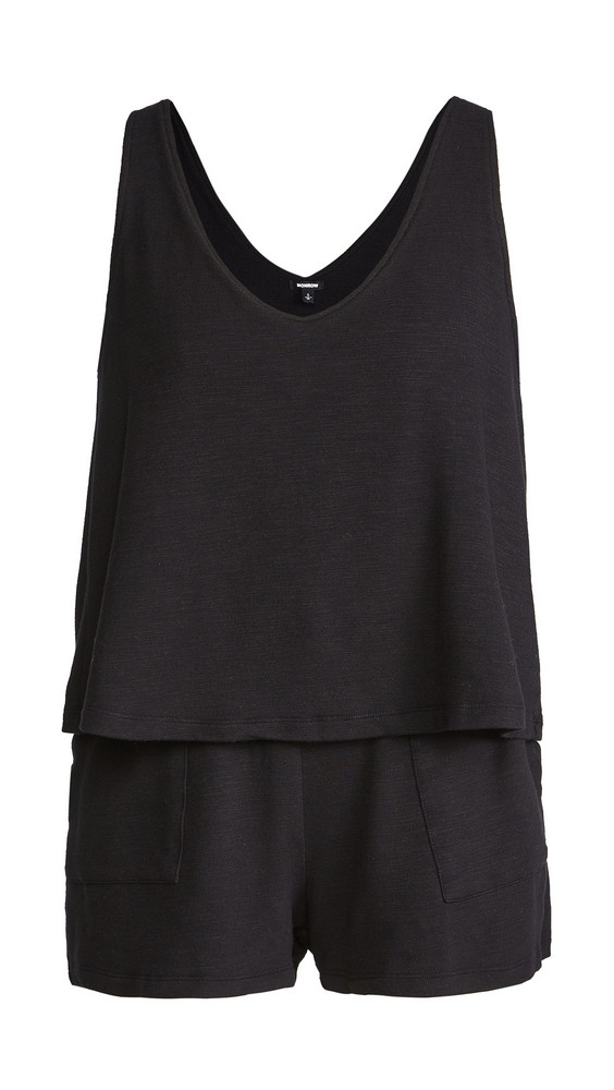 MONROW Supersoft Tank Romper in black