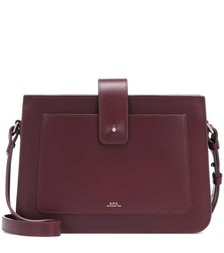 A.P.C. Albane leather shoulder bag in red