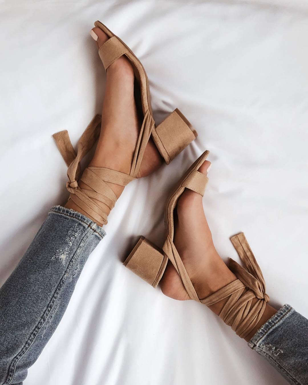 shoes beige shoes sandals lace up heels