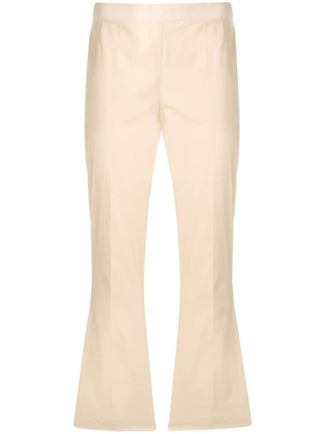Twin-Set cropped drainpipe trousers in neutrals