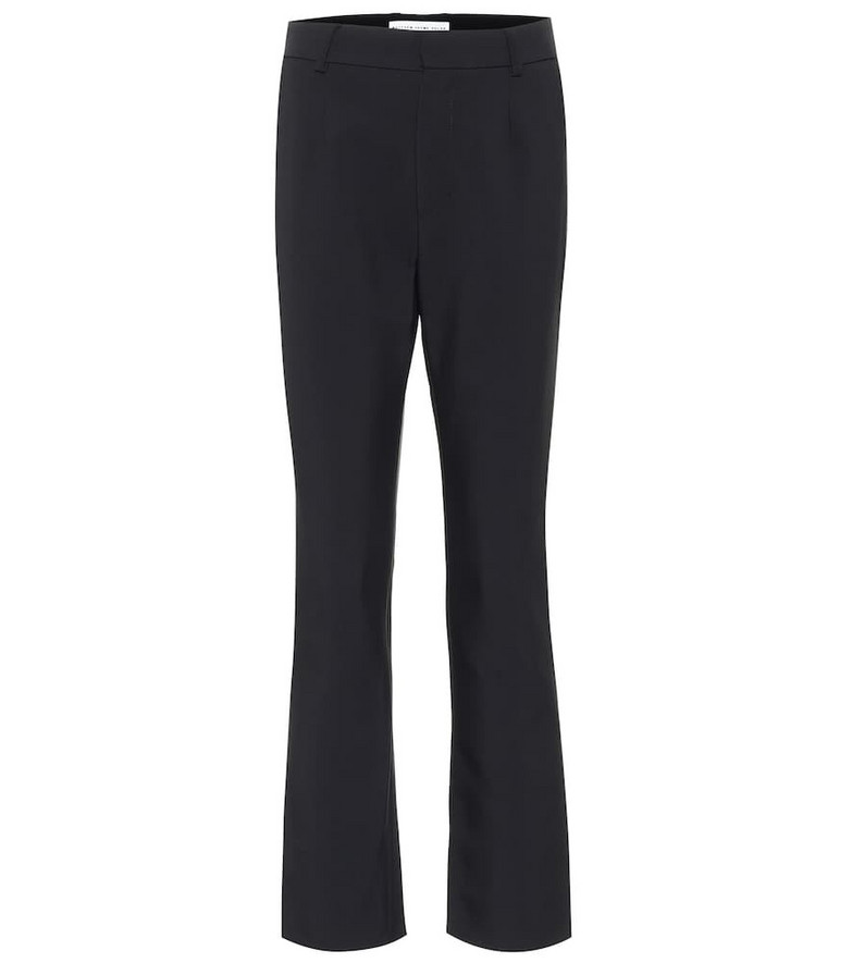 Matthew Adams Dolan High-rise crêpe pants in black