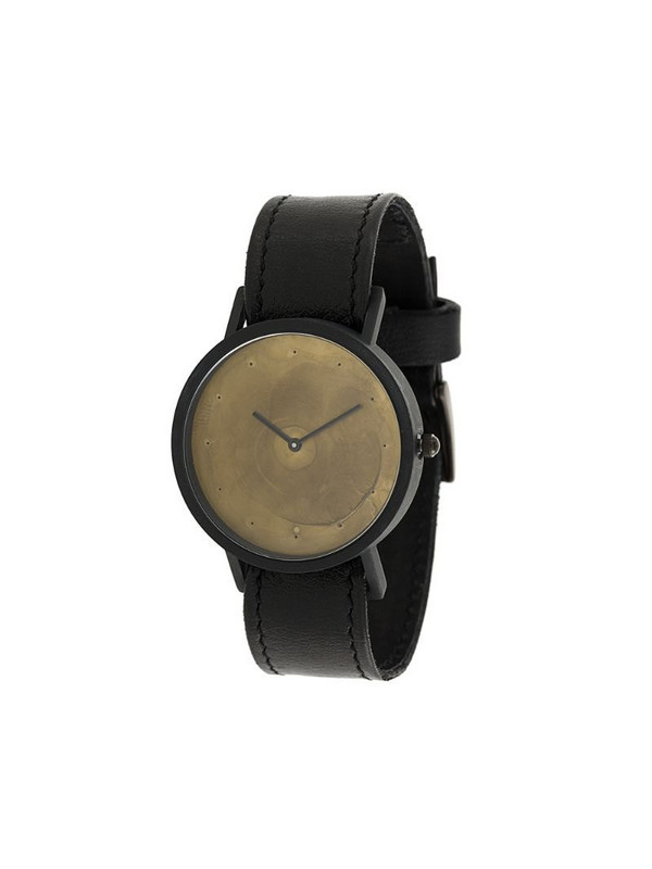 South Lane Avant Exposed Gold watch in black