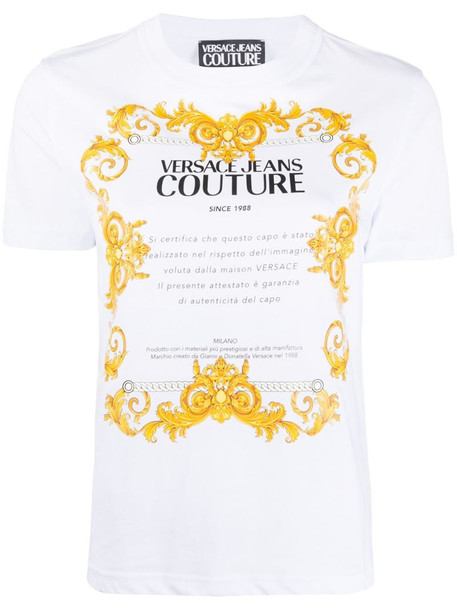 Versace Jeans Couture graphic print T-shirt in white