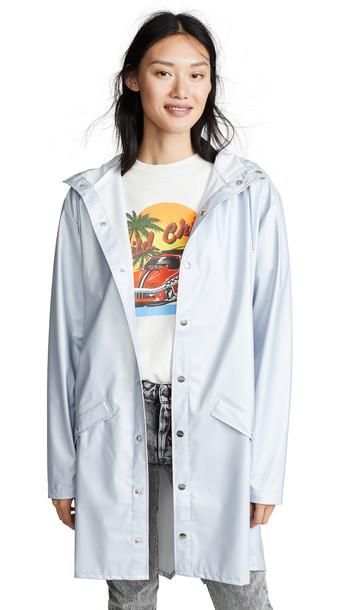 Rains Long Jacket in grey / metallic