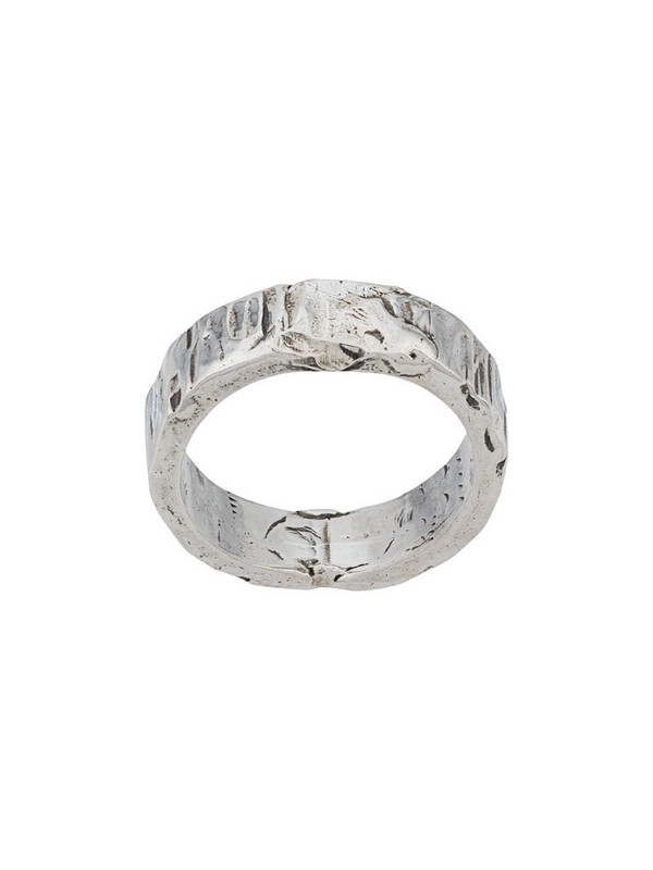 Emanuele Bicocchi handmade band ring in silver