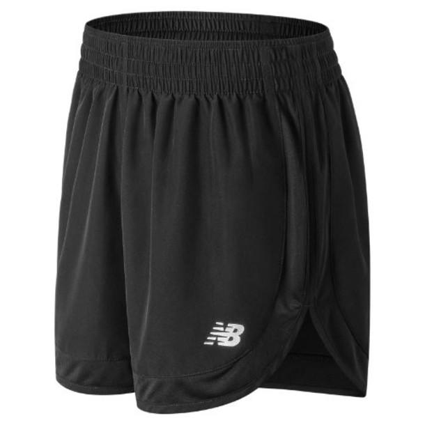 New Balance 81294 Women's Accelerate 5 Inch Short - Black (WS81294BK)