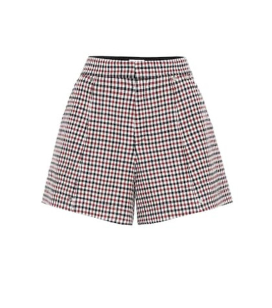 Chloé Checked stretch-wool shorts