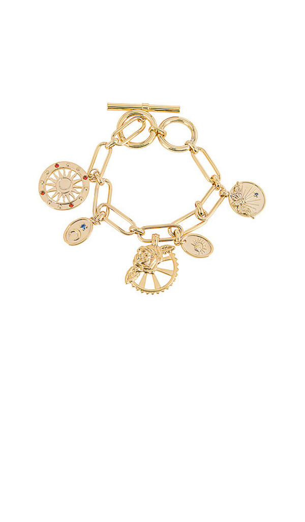 Wanderlust + Co Wanderlust + Co Reverie Toggle Bracelet in Metallic Gold