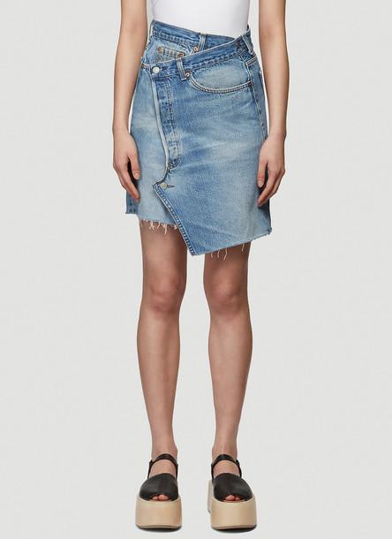 Bonum Denim Wrap Skirt in Blue size S
