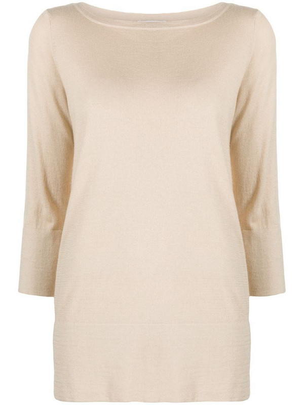 Snobby Sheep casual cashmere jumper in brown