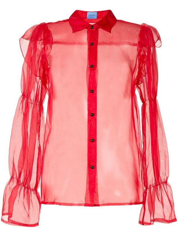 Macgraw Souffle blouse in red