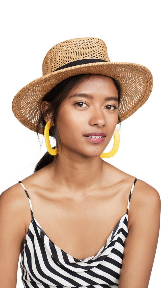 Gigi Burris Georgia Hat in black / sand