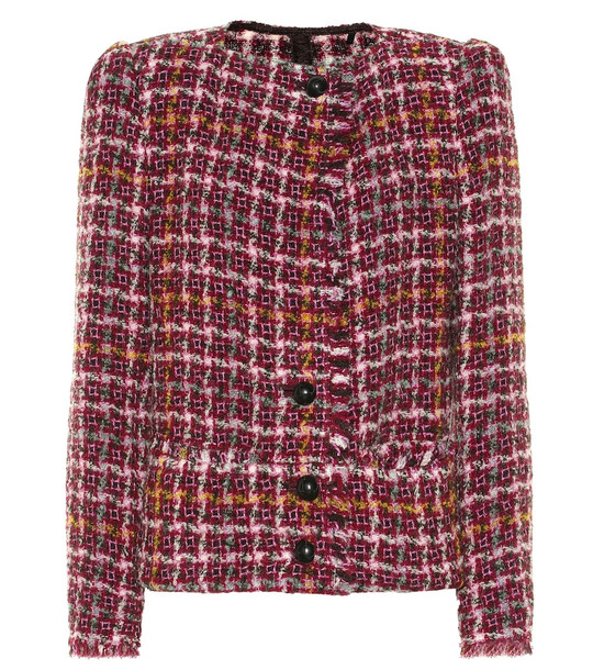 Isabel Marant Zoa tweed jacket in red