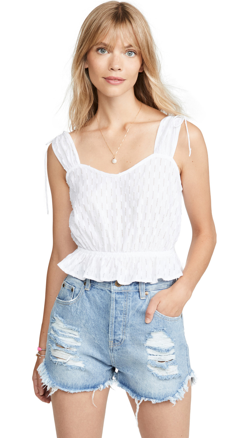 The Fifth Label Binocular Top in white